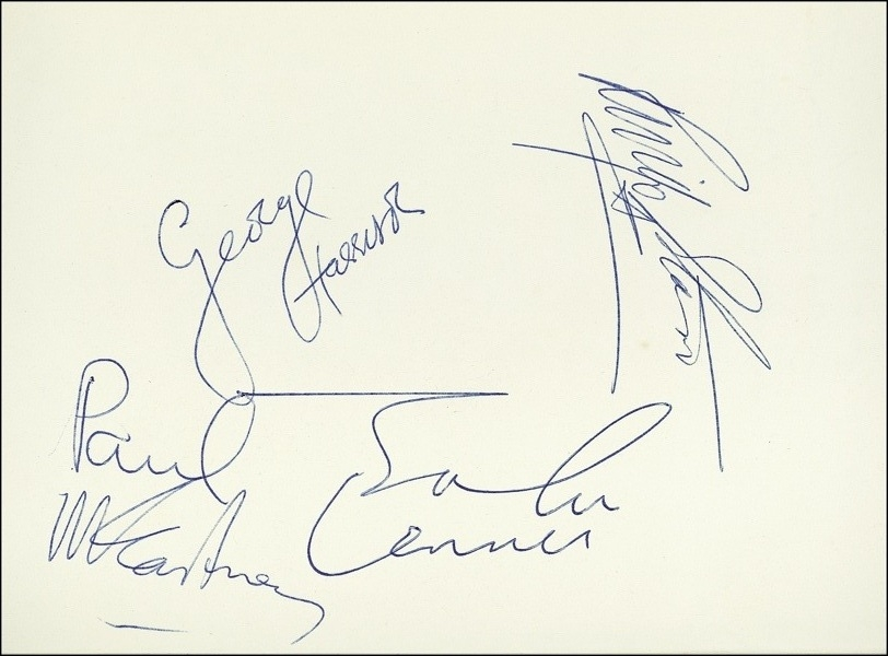 The Beatles Autograph
