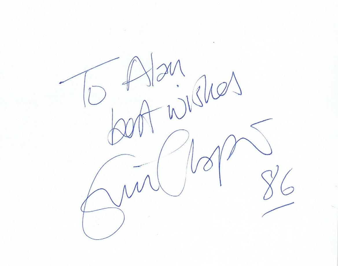 eric clapton autograph examples. Black Bedroom Furniture Sets. Home Design Ideas