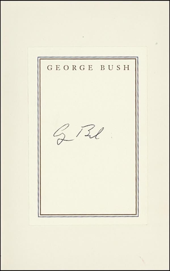 George Bush Autograph Examples