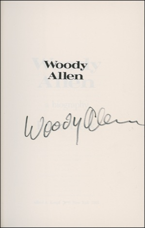 Woody Allen Autograph Examples